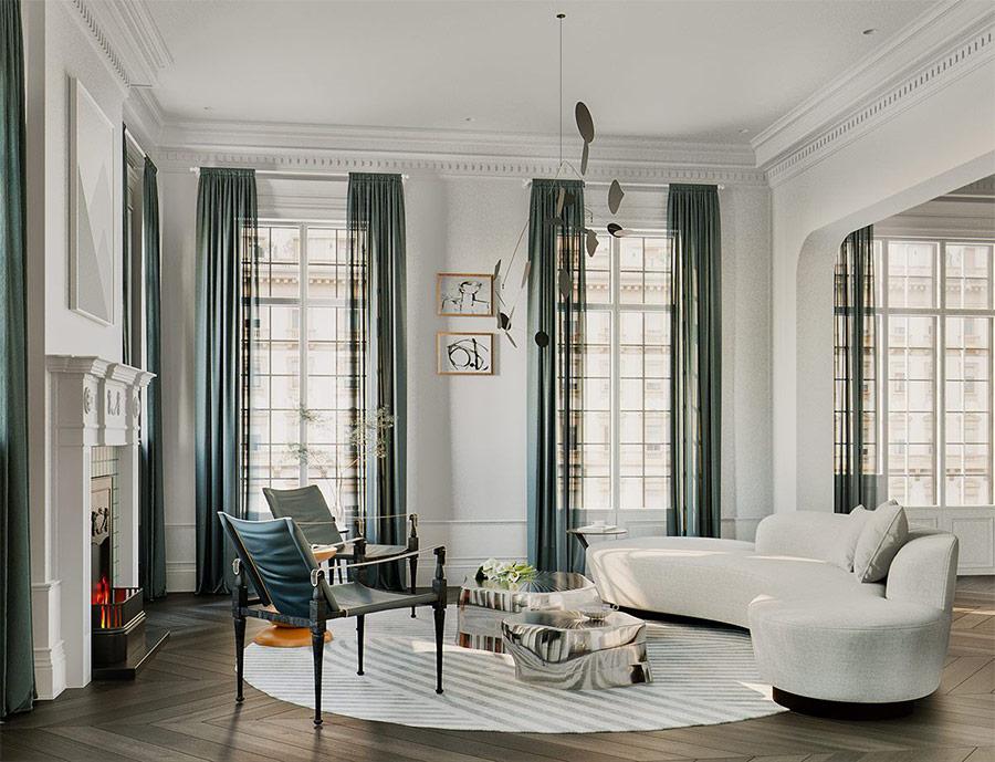 Màu sắc được kết hợp hài hòa và tinh tế để vừa tạo điểm nhấn vừa mang đếm cảm xúc cho tổng thể Căn hộ Penthouse.