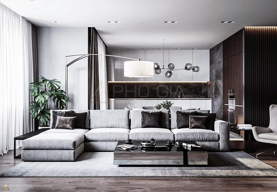 Thiết kế nội thất Penthouse Sora Garden được lấy cảm hứng từ phong cách Đương đại.