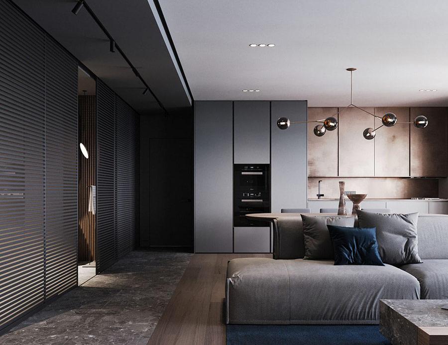 Không gian hiện đại với sự ứng dụng của thép không gỉ trong thi công nội thất