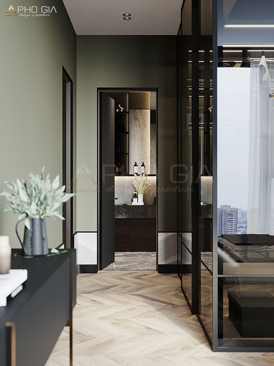 Màu sắc trung tính được thể hiện tinh tế trong không gian nội thất hiện đại.