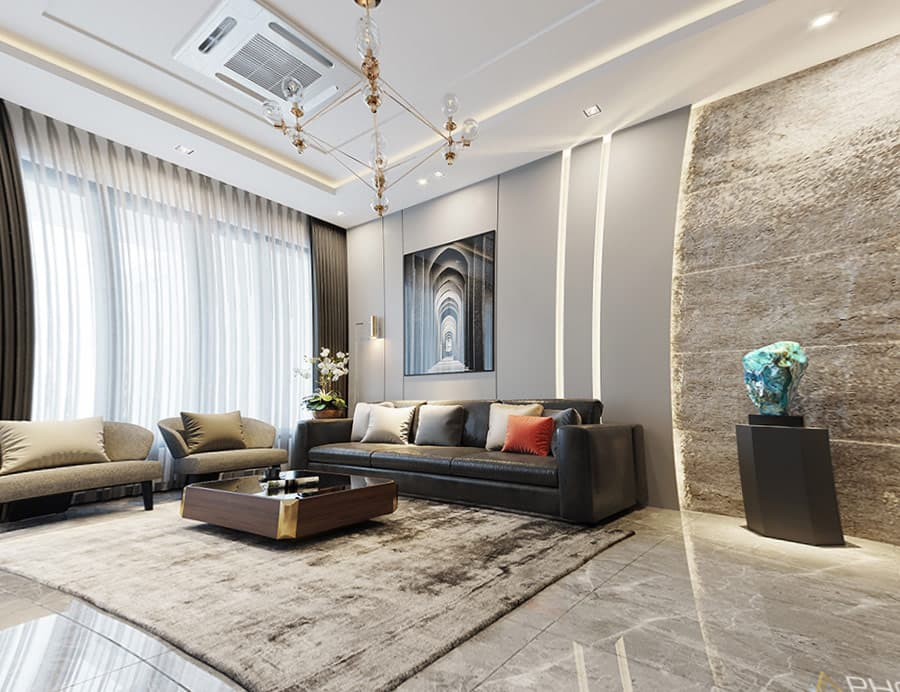 Gam màu sáng được ứng dụng trong thiết kế nội thất nhà phố tạo hiệu ứng thoáng đãng cho không gian.