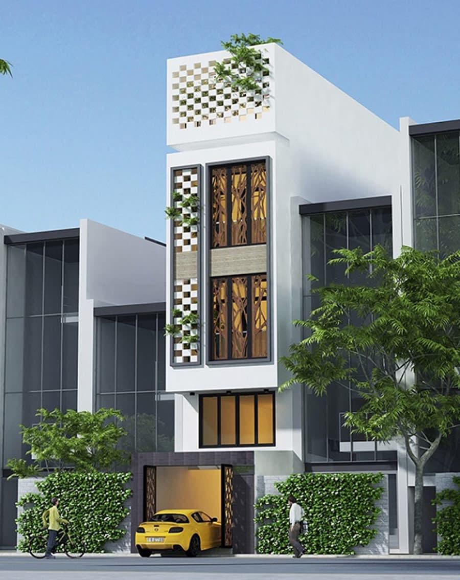Đặc tính nhà phố thường bị hạn chế cửa số 2 bên mặt, bề ngang hẹp nên dễ mang đến cảm giác bí bách.