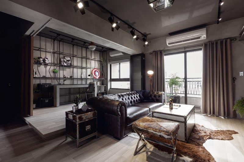 """Mọi chi tiết """"trần trụi"""" trong thiết kế nội thất Penthouse phong cách công nghiệp đều được sắp đặt có chủ ý tạo nên tính nghệ thuật cho không gian."""