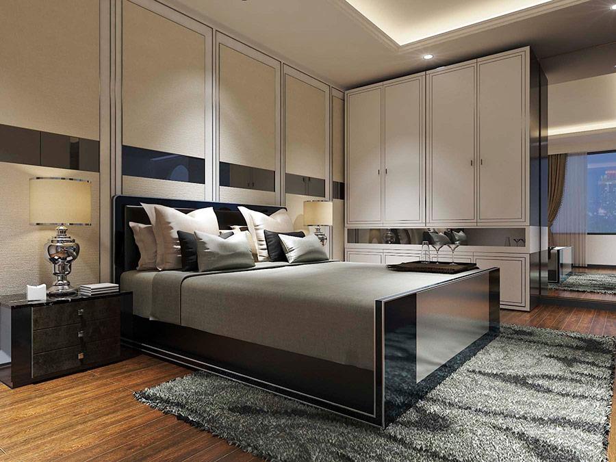 Đồ dùng nội thất cho phòng ngủ phải có sự đồng bộ, dung hòa về màu sắc