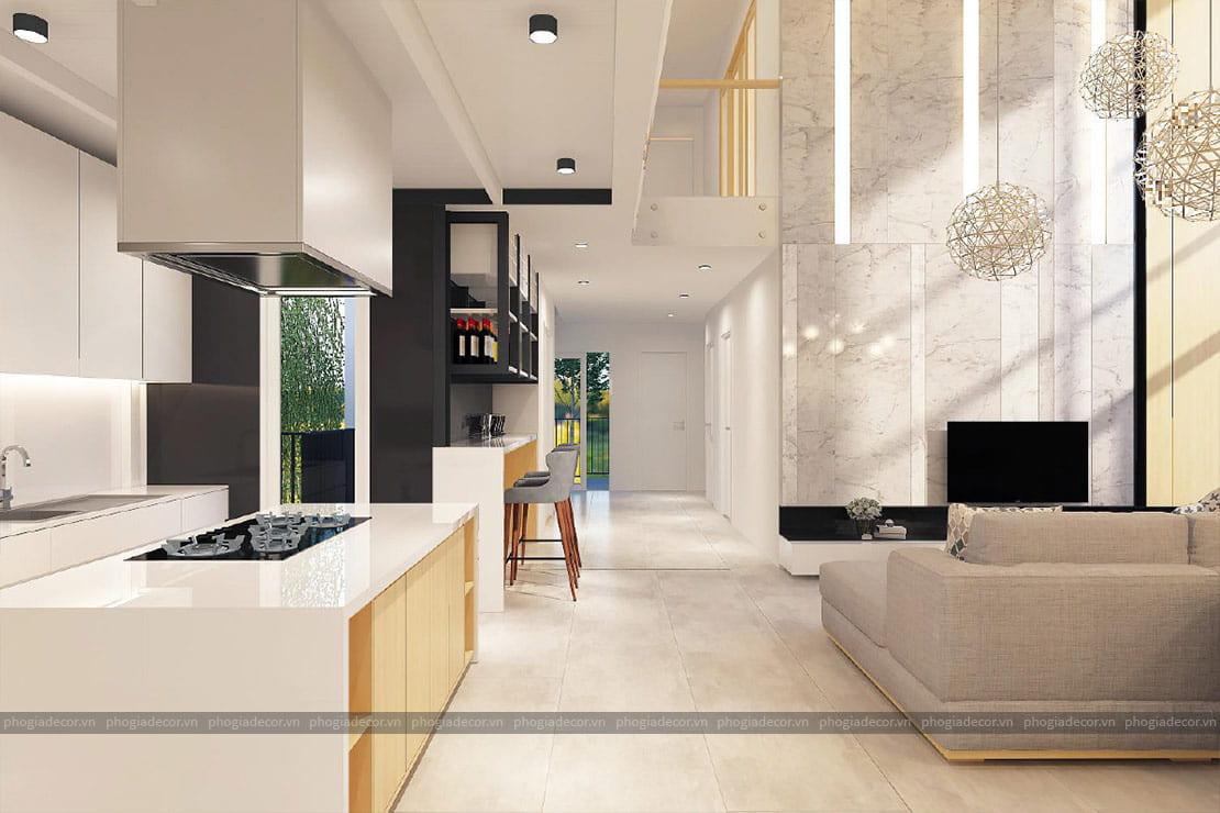 Phòng bếp căn hộ penthouse Golden Land Quận 7