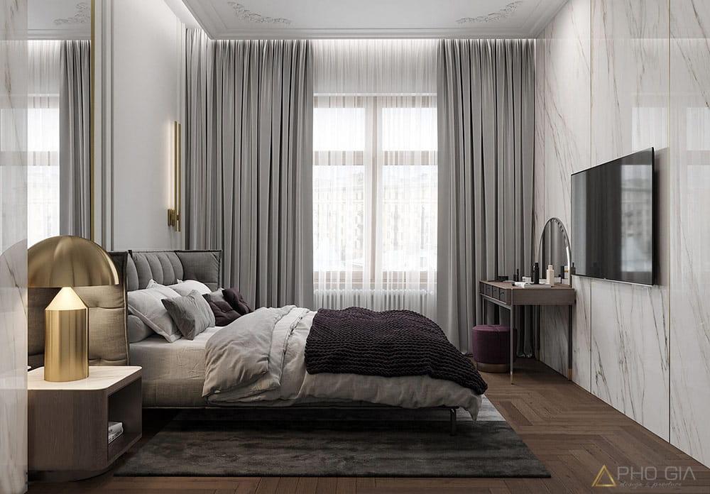 Phòng ngủ căn hộ penthouse Sunrise City Quận 7