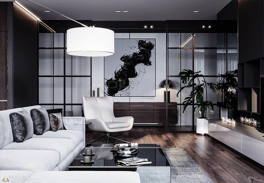 Phòng khách căn hộ Penthouse Sora Gardent Bình Dương
