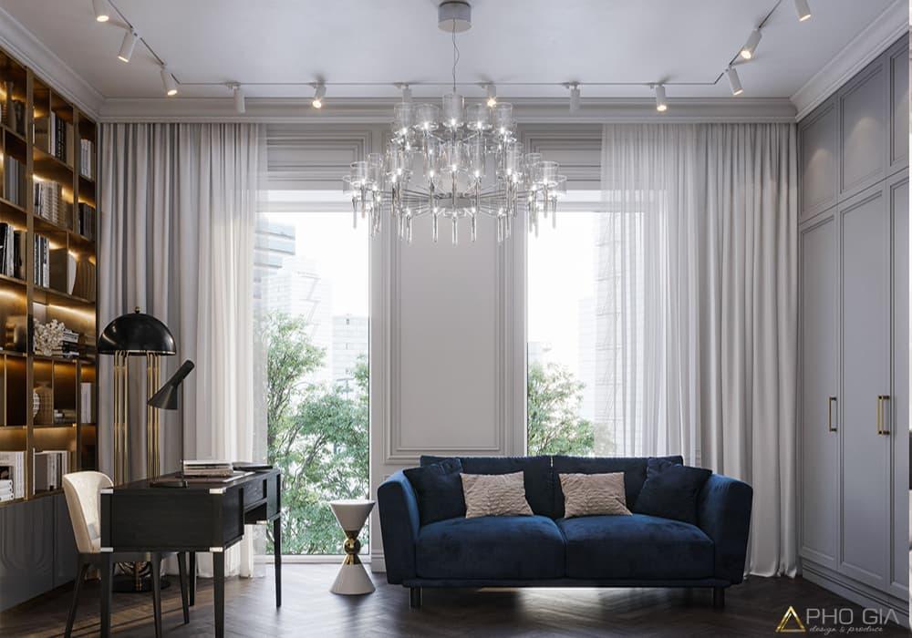 Thiết kế thi công nội thất phòng khách nhà phố