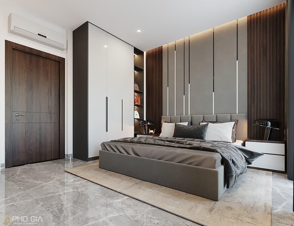 Thiết kế thi công nội thất phòng ngủ nhà phố