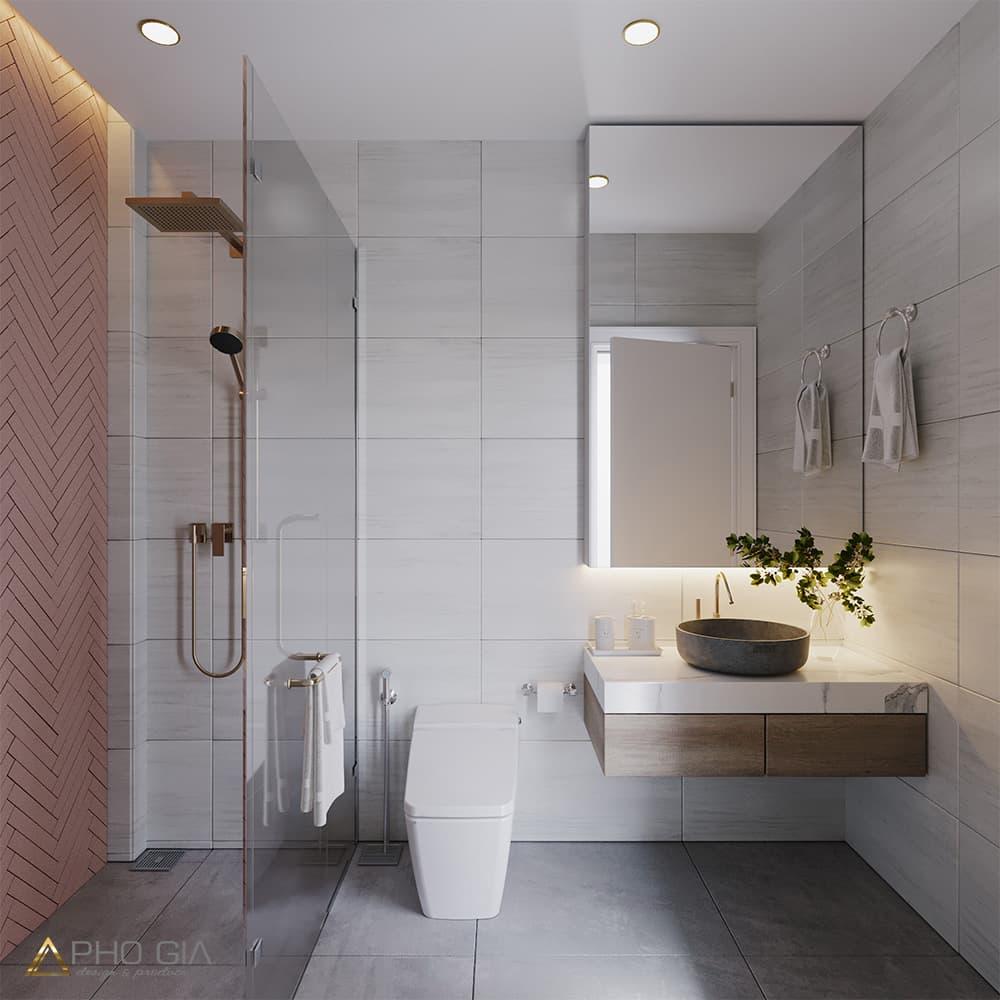 Thiết kế thi công nội thất phòng tắm, nhà vệ sinh nhà phố