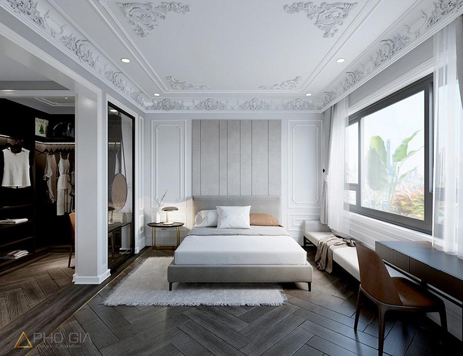 Chọn giường ngủ đơn giản sẽ tạo nên sự sang trọng cho không gian