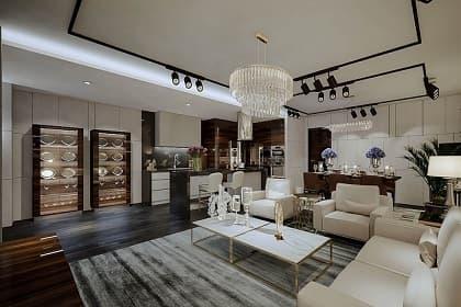 Phong cách thi công nội thất penthouse luxury với 6 loại đèn chiếu thịnh hành nhất hiện nay!