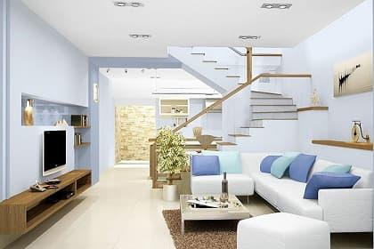 """Thiết kế thi công nội thất phòng khách nhà phố đẹp cùng 7 lưu ý """"vàng"""" cần biết!"""