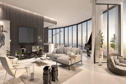 Thiết kế và thi công nội thất phòng khách penthouse cùng 5 bí quyết giúp không gian đẹp hơn