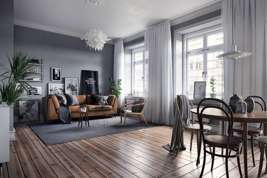 Thiết kế nội thất căn hộ penthouse phong cách Scandinavian với 5 chủ đề mới mẻ
