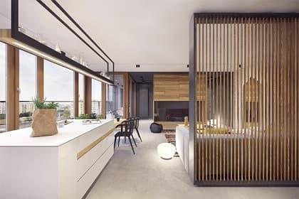 Thiết kế nội thất village Bình Dương và 4 ưu điểm nổi bật của lam gỗ giúp không gian sống thanh lịch, đẹp mắt