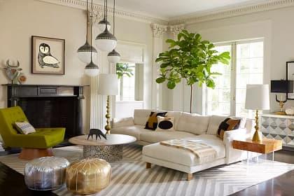 Thiết kế thi công nội thất căn hộ penthouse Quận 1 và 5 điểm nhấn giúp phòng khách cuốn hút hơn