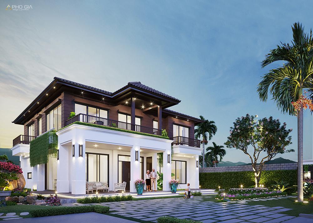 Kiến trúc villa biệt thự sân vườn vũng tàu