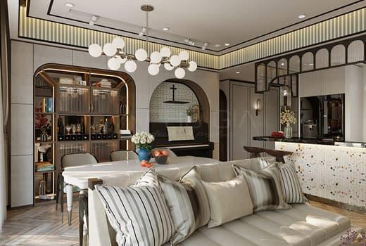 Thiết kế nội thất căn hộ Botanica 100m2 Tân Bình