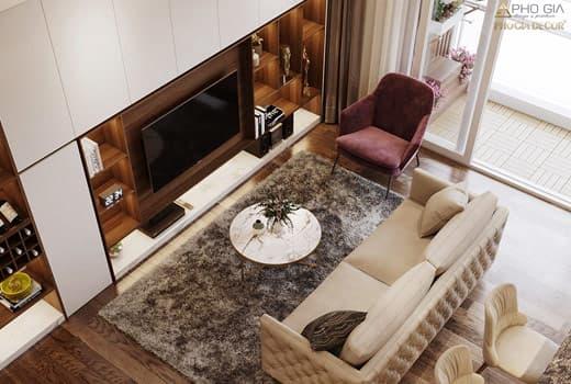 Thiết kế nội thất căn hộ Hà Đô Centrosa 2 phòng ngủ