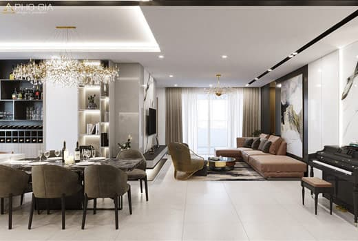 Thiết kế nội thất căn hộ Penthouse Vinhomes Bason