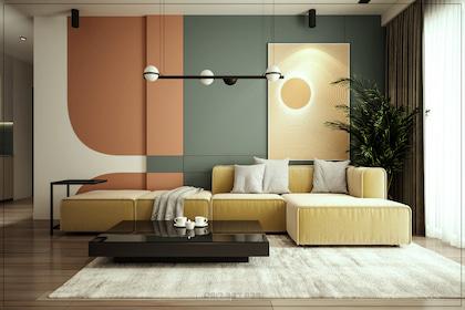 Color Block - thổi bùng làn gió mới vào phong cách thiết kế nội thất căn hộ penthouse hiện đại