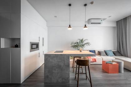 Mẫu thiết kế nội thất căn hộ chung cư 45m2 hiện đại, cá tính