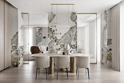 Tiết kiệm chi phí khi thiết kế căn hộ hiện đại, sang trọng nhờ giải pháp gạch giả đá