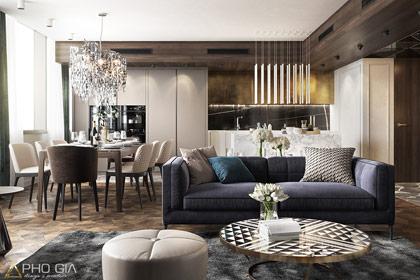 Thiết kế nội thất chung cư chuyên nghiệp, phong cách hiện đại